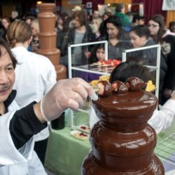 Chocolate Fountain at The Chocolate Expo - Copy